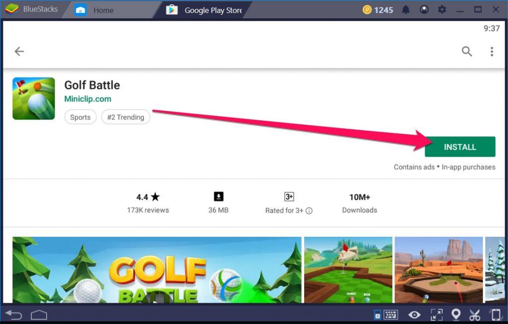 Golf Battle sur PC Windows